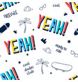 words and pattern seamless vector image