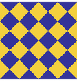 Yellow Blue Chess Board Diamond Background vector image vector image