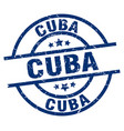 cuba blue round grunge stamp vector image