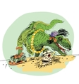 dinosaur t Rex female vector image