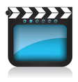 Clapper board and web buttons vector image