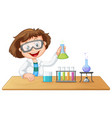 a lab kid character vector image