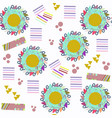 abstract geometric adorable seamless pattern it vector image vector image