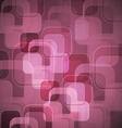 Abstract pink background with round rectangle vector image vector image