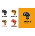 africa patterned map logo design banner vector image vector image