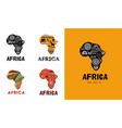 africa patterned map logo design banner with vector image vector image