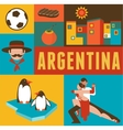 argentina poster and background with set icons vector image vector image