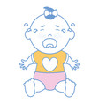 baby clothes crying vector image vector image