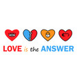 banner with hearts icon trendy modern vector image