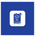 blue round button for 554 book dominion leader vector image