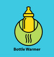 bottle warmer icon vector image