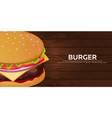 burger banner fast food restaurant vector image vector image