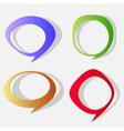Cartoon paper bubbles vector image vector image
