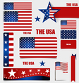 Collection of American Flags Flags concept design vector image vector image