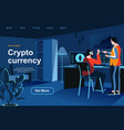 cryptocurrency isometric landing page vector image