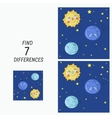 Educational game find the differences vector image
