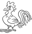 farm rooster cartoon for coloring book vector image vector image