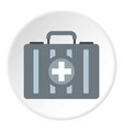 first aid kit icon circle vector image vector image