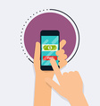 Flat design concepts of online payment metho vector image vector image