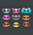 funny animal masks vector image