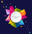 geometric design colorful triangle vector image vector image