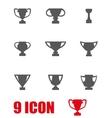 grey trophy icon set vector image