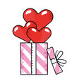 heart with gift boxes vector image vector image