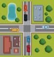 highways top view cartoon vector image vector image