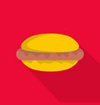 hot dog icon flat style vector image vector image