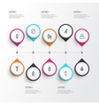 human outline icons set collection of profile vector image vector image