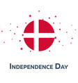 independence day of denmark patriotic banner vector image vector image