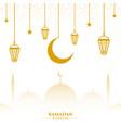 islamic ramadan kareem season vector image vector image