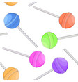 lollipops as seamless pattern colored set vector image vector image