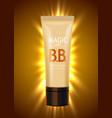 luxury skin toner bb cream or peeling scrub vector image vector image