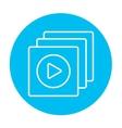 Media player line icon vector image