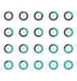 modern circle progress bar icon set vector image