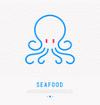 octopus thin line icon modern vector image