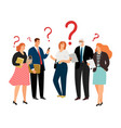 people have question vector image vector image