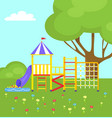 playground for kids with different ladders vector image