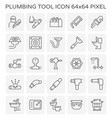 plumber plumbing icon vector image