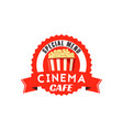 pop corn box icon for cinema cafe menu vector image vector image