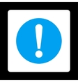 Problem flat blue and white colors rounded button vector image