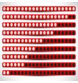 progress bars progress level indicators preloader vector image vector image