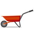 red wheelbarrow vector image vector image