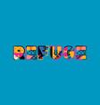 refuge concept word art vector image