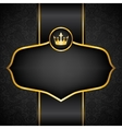 royal black background vector image
