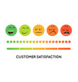 satisfaction rating set feedback icons in form vector image