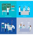 Scientists Flat Set vector image vector image