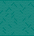 seamless wavy line pattern vector image vector image