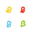 set of icons or logo templates with little birds vector image vector image